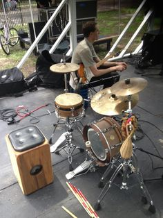 Jimmy Lopez's #percussion setup for the day! Including the Kopf Percussion S-Series Snare Cajon. Available at http://www.kopfpercussion.com/s-series-snare-cajon-from-kopf-percussion/?page_context=category&faceted_search=0