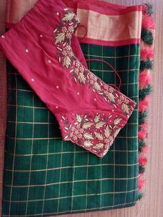 New Jewerly Simple Summer Outfits Ideas Pattu Saree Blouse Designs, Blouse Designs Silk, Bridal Blouse Designs, Blouse Patterns, Hand Work Blouse Design, Simple Blouse Designs, Stylish Blouse Design, Kurti Designs Party Wear, Silk Sarees