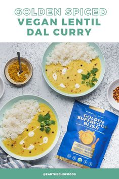 Comfort food season is coming in hot and we've got the PERFECT recipe to satisfy all your cozy cravings. This Vegan Golden Spiced Lentil Dal Curry is simple to make, packed with flavorful spices, and boosted with the nourishing power of Golden Superfood Bliss! Weight Loss Snacks, Healthy Weight Loss, Help Losing Weight, Diet Meal Plans, Perfect Food, Curry Recipes, Lentils, Superfood, Cravings