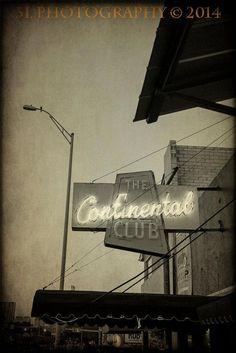 Austin Texas Photography Continental Club Bar by 3LPhotography