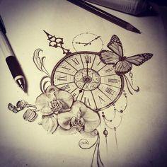 """Résultat de recherche d'images pour """"orchidées tatouage"""""""