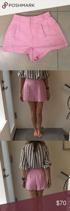 Apiece Apart high waist shorts Beautiful high waisted shorts in azalea. Never been worn- in perfect condition! Apiece Apart Shorts