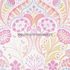 Motif des fleurs pastel behang 354001, Tout Petit van Eijffinger
