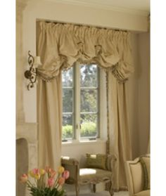 window treatment site custom and great ideas Gathered Balloon Valance