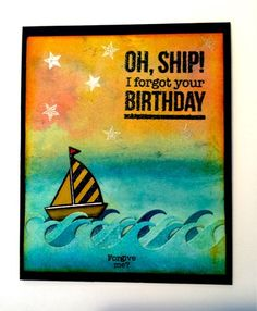 CREATE EVERYDAY: OH SHIP! I forgot your BIRYHDAY card. I started wi...