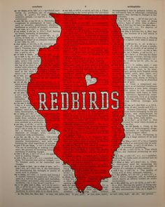 Illinois State Redbirds Dictionary Art Print by Lexiconograph