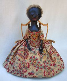 old pretender doll-- reproductions in spirit of wooden queen anne dolls