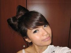 I used this girls Youtube video tutorials to do this bow, it looked so funny on me. Fun and silly styles.