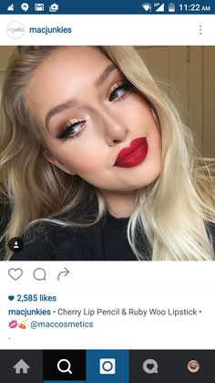 #MAC #lip #swatch #red