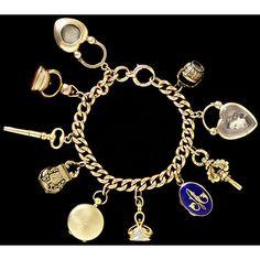 Victorian era charm bracelet, Victoria & Albert Museum