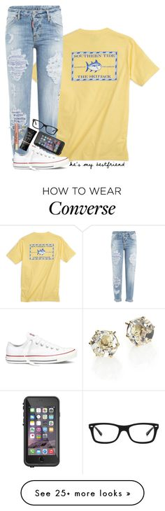 """+he's my bestfriend & i love him like my brother"" by theblonde07 on Polyvore featuring Southern Tide, Dsquared2, Converse, LifeProof, NARS Cosmetics, Ray-Ban, Too Faced Cosmetics and Ippolita"