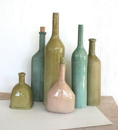 Still life of six bottle forms by HouseOfCeramics on Etsy, $740.00