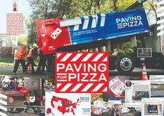 Paving for Pizza Billie Jean King, Clever Advertising, Advertising Design, Cannes, Pizza Branding, Broadway, Proof Of Concept, Guerilla Marketing, Concept Board