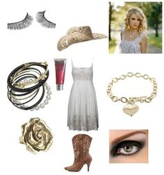 Country Girl... Inspired by Taylor Swift.  Add a jeans vest and the outfit will be perfect!