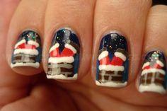 Santa in the chimney - Love this! :)