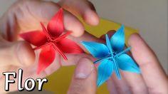 Flor Estrella Fantástica de Papel - Origami
