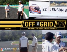 NBC Sports Network presents: Off The Grid, with McLaren F1 Team's Jenson Button on a track walk at the Hungaroring: site of his 1st Grand Prix win in 2006. Premiere: 9 AM CT, Friday, 22 August 2014. Credit: NBC Sports.