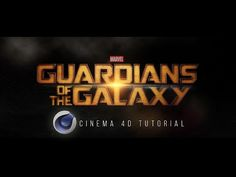 Guardians of the Galaxy Text Effect + Free Project File | Cinema 4D Tutorial - YouTube