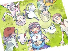 Where are you guys? Digimon 02, Digimon Adventure 02, Digimon Tamers, Gatomon, Digimon Frontier, Digimon Digital Monsters, Fanart, Pokemon Fusion, Pokemon Cards