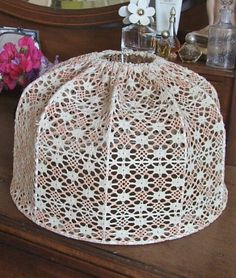 Vintage French style Crochet Lampshade