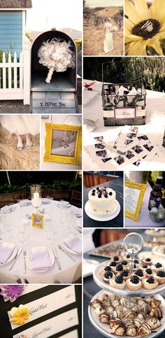 Ideas y detalles en amarillo para bodas de septiembre/ Yellow wedding inspiration