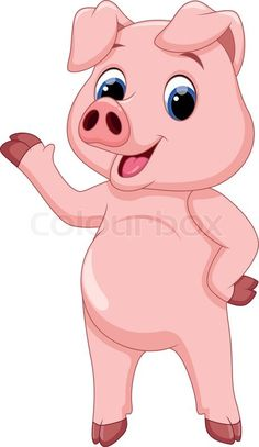 cute pig cartoon - Google Search