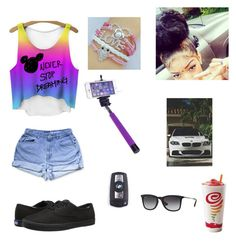 """""""My mom just had a baby"""" by zendaya090 ❤ liked on Polyvore featuring Keds, BMW and Ray-Ban"""