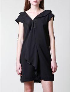 Pauline Ning v-back crepe dress