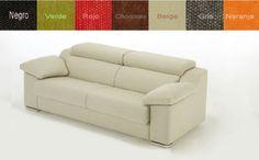 Sofá cama dos plazas tapizado en tela con cabezales reclinables. ¡Elija el color que más le guste!