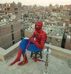 spiderman nargile hookah
