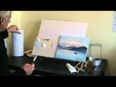 http://www.paintbasket.com/paintbaskettv/ - How to paint a sunset landscape - Oil Painting Webinar Part 1    Part 5 of a Free Oil Painting Course by Nolan Clark of The Paint Basket. Originally shown on Paint Basket TV.    In this art webinar you will learn all about :  1) How much drawing to do before starting to paint  2) How to mix the colours...