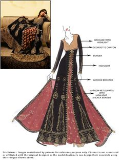 #DIY #Black Floor Length #Anarkali Suit