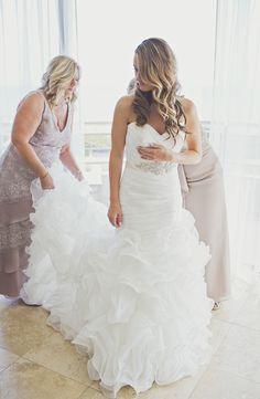 Wedding Dresses - Gray and gold Pismo Beach wedding - see more at http://fabyoubliss.com