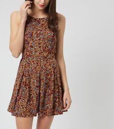 £24.00 New Look Madam Rage Red Floral Print Skater Dress