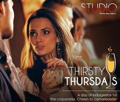 Novotel Kolkata presents Thirsty Thursdays tomorrow at Studio from 6 pm onwards. Highlights: Bollywood music, Happy Hour, fabulous ambience, unmatched Pan-Asian mini eats and menu and stylish cocktails.
