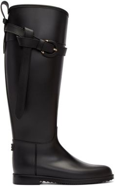 Burberry Black Roscot Riding Rain Boots. Riding boot fashions. I'm an affiliate marketer. When you click on a link or buy from the retailer, I earn a commission.