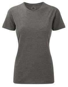Koszulka HD T do nadruków. Odzież damska. Producent: Russell. Numer katalogowy: R165F. Materiał: 65% poliester; 35% bawełna. Gramatura: 155g/160g.