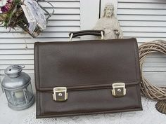 Vintage Schultaschen - vintage Aktentasche Leder shabby chic - ein Designerstück von artdecoundso bei DaWanda