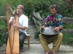 Hang drum  with celtic harp - blending cultures is so beautiful