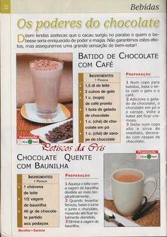 Receitas Diversas de Bebidas Com Chocolate...