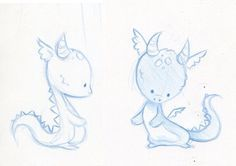 Photos dragon sketch easy: baby dragon sketches by danieru-chan on deviantart Drawing Sketches, Cool Drawings, Simple Animal Drawings, Drawing Ideas, Animal Sketches, Sketching, Dragon Sketch, Cute Dragons, How To Draw Dragons