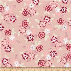 Riley Blake Raspberry Parlour Large Floral Pink
