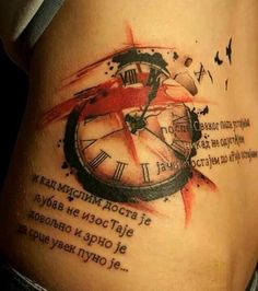 Watch Tattoo Trash Polka Style