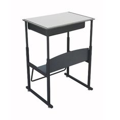 Kids' Desks - Safco Products 1204GR Alphabetter StandUp Desk with Swinging Footrest Bar 28 x 20 Premium Top with Book Box Black Frame Gray Top -- Read more at the image link.