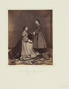 Princess Alice and Princess Helena, 1860 [in Portraits of Royal Children Vol.4 1859-1860] | Royal Collection Trust