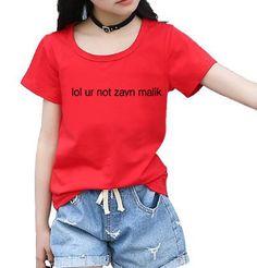 >> Click to Buy << LOL UR NOT ZAYN MALIK letter print 2017 new fashion summer brand clothing streetwear tops short sleeve kids t shirts homme mma #Affiliate