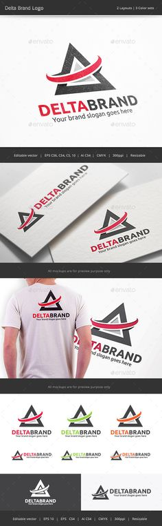Delta Brand  Logo Design Template Vector #logotype Download it here: http://graphicriver.net/item/delta-brand-logo/10028242?s_rank=1764?ref=nexion