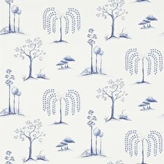 Sanderson - Traditional to contemporary, high quality designer fabrics and wallpapers | Products | British/UK Fabric and Wallpapers | Willow Tree (DCHK213724) | Chika Wallpapers