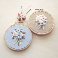 50 Ideas For Embroidery Hoop Necklace Stitches Hand Embroidery Stitches, Silk Ribbon Embroidery, Embroidery Hoop Art, Hand Embroidery Designs, Cross Stitch Embroidery, Brazilian Embroidery, Creations, Couture, French Cuff