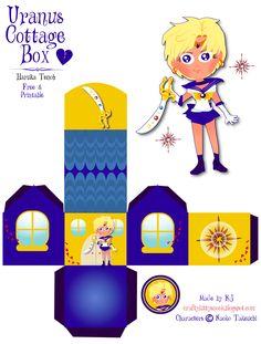 Sailor Uranus (Haruka Tenoh) Cottage Box - Free & Printable